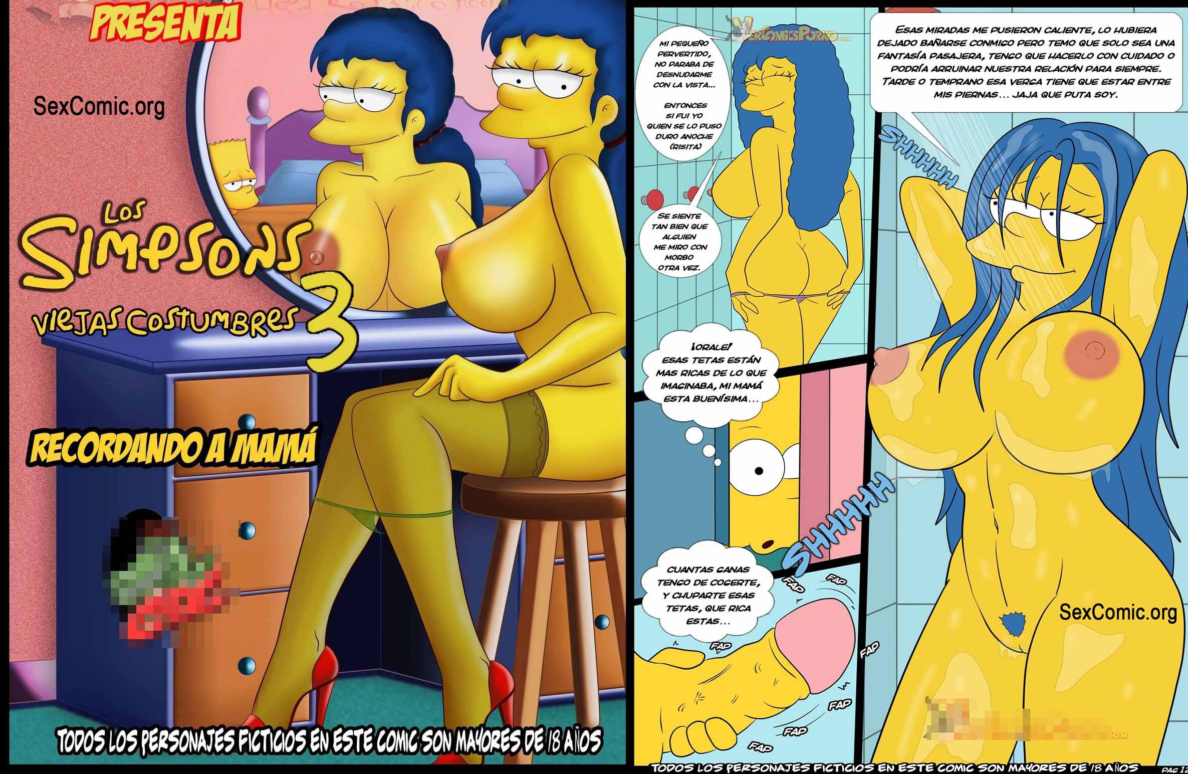 de sexo anal con los simpson