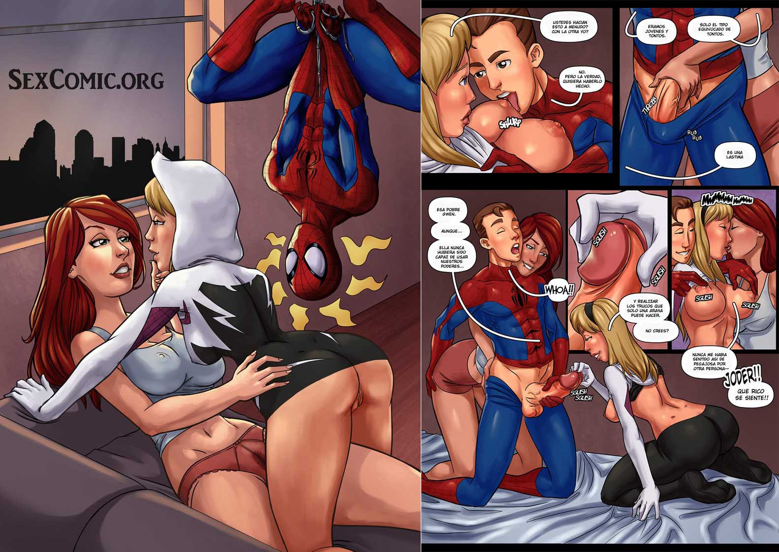 Spiderman comic porno de