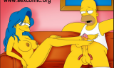 Homero Simpson Follando con Marge