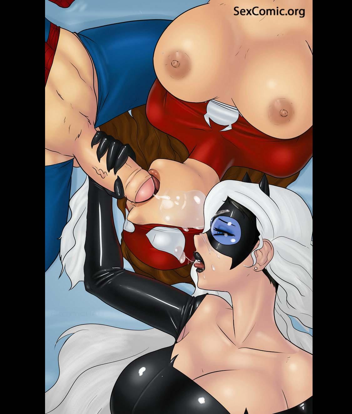 kreslený pár sex