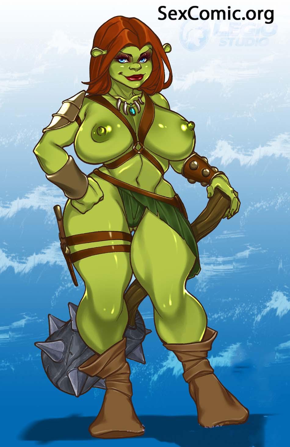 Shrek Cartoon porno photos Nakad gril